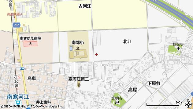 山形県寒河江市高屋北江周辺の地図