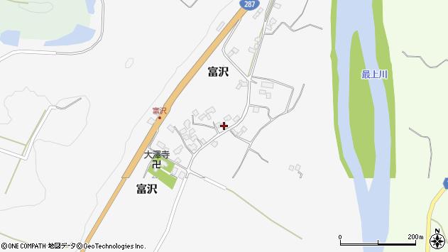 山形県西村山郡大江町富沢92周辺の地図