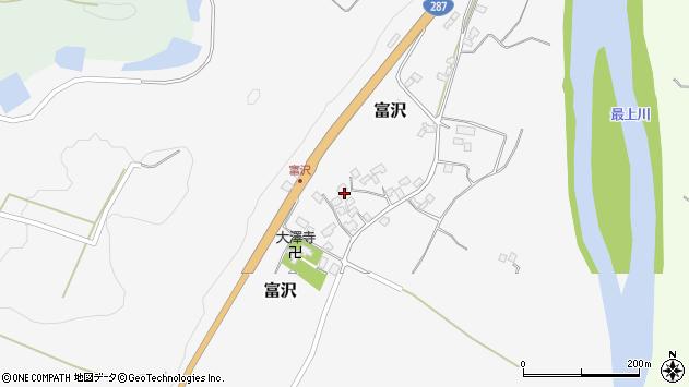山形県西村山郡大江町富沢105周辺の地図