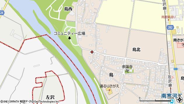 山形県寒河江市島34周辺の地図