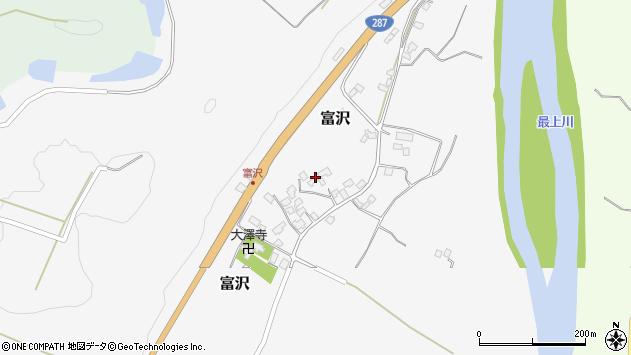 山形県西村山郡大江町富沢94周辺の地図