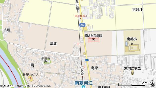 山形県寒河江市島27周辺の地図