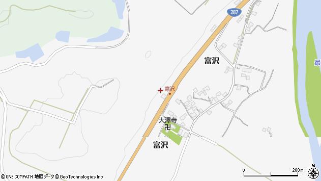 山形県西村山郡大江町富沢119周辺の地図