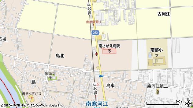 山形県寒河江市島82周辺の地図