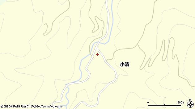 山形県西村山郡大江町小清周辺の地図