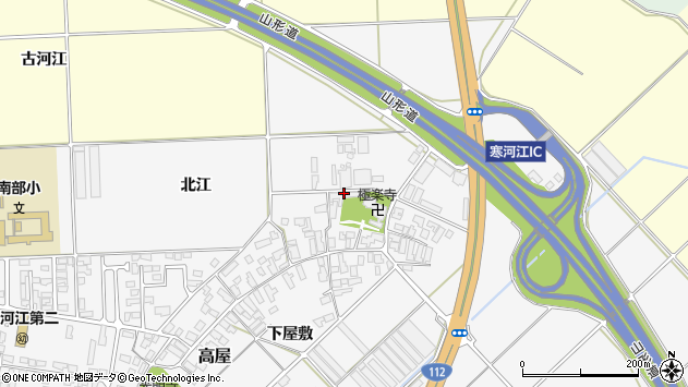 山形県寒河江市高屋343周辺の地図