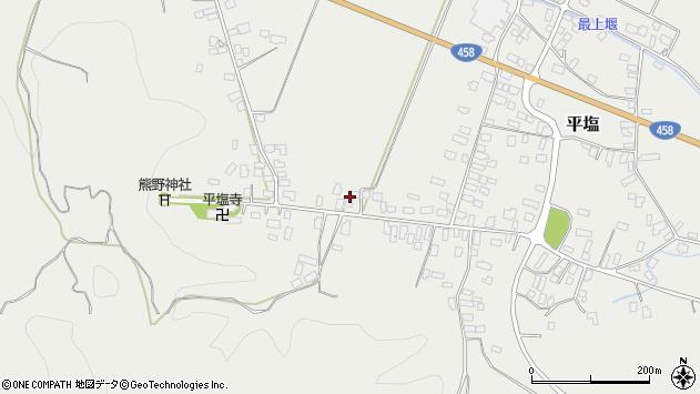山形県寒河江市平塩168周辺の地図