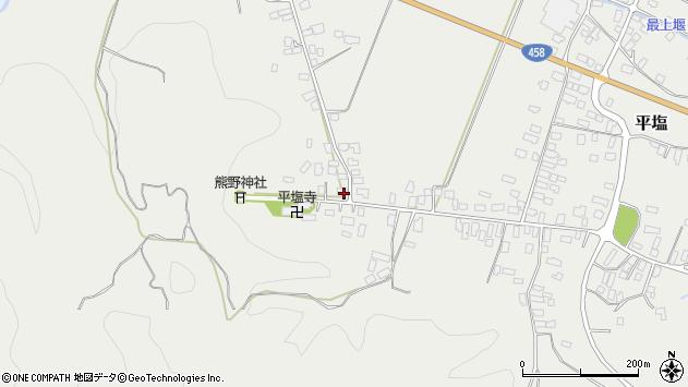 山形県寒河江市平塩4周辺の地図