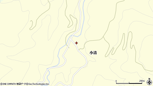 山形県西村山郡大江町小清44周辺の地図