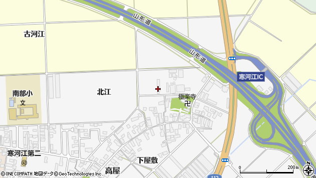 山形県寒河江市高屋北江110周辺の地図