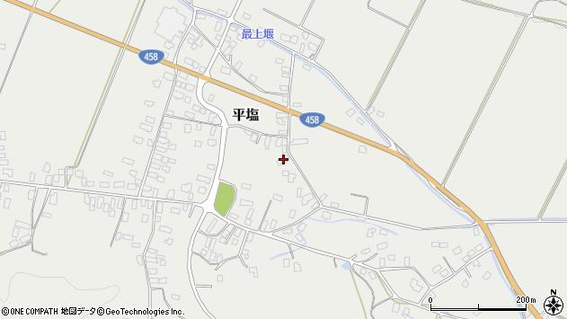 山形県寒河江市平塩437周辺の地図