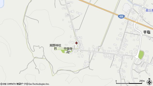 山形県寒河江市平塩5周辺の地図