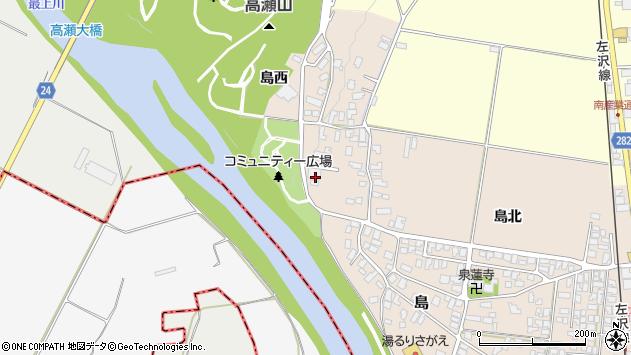 山形県寒河江市島島西21周辺の地図