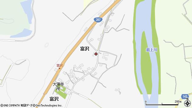 山形県西村山郡大江町富沢68周辺の地図