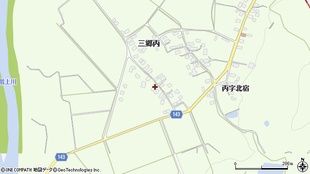山形県西村山郡大江町三郷丙695周辺の地図