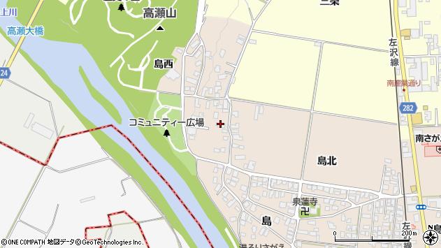 山形県寒河江市島39周辺の地図