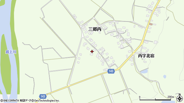 山形県西村山郡大江町三郷丙201周辺の地図