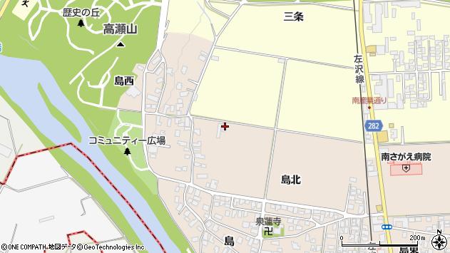 山形県寒河江市島18周辺の地図