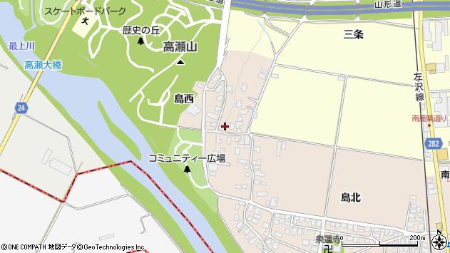 山形県寒河江市島47周辺の地図