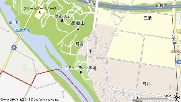 山形県寒河江市島6周辺の地図