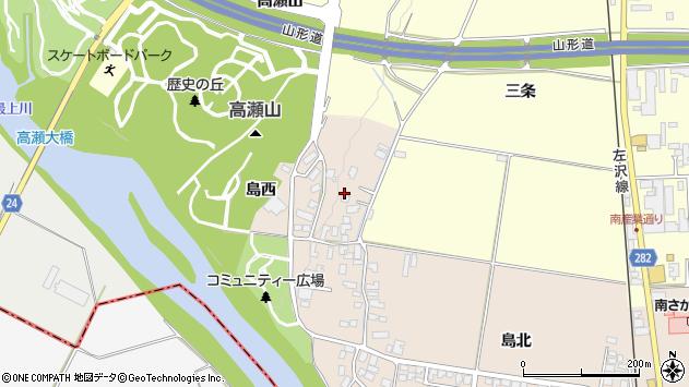 山形県寒河江市島50周辺の地図