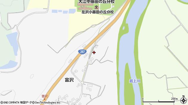 山形県西村山郡大江町富沢21周辺の地図