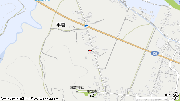 山形県寒河江市平塩26周辺の地図