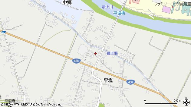 山形県寒河江市平塩293周辺の地図