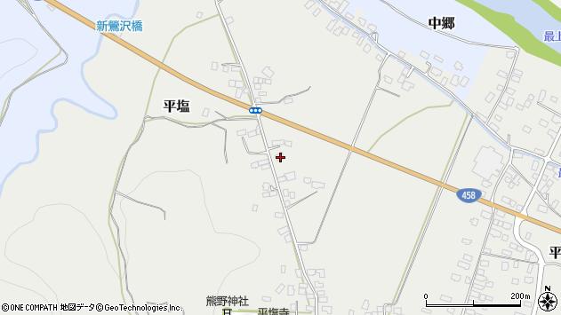 山形県寒河江市平塩89周辺の地図