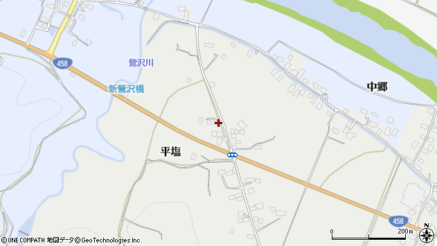 山形県寒河江市平塩67周辺の地図