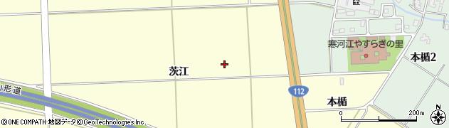 山形県寒河江市寒河江茨江周辺の地図