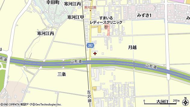 山形県寒河江市寒河江月越44周辺の地図