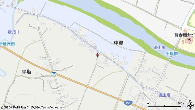 山形県寒河江市平塩153周辺の地図