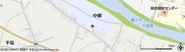 山形県寒河江市中郷沢向90周辺の地図