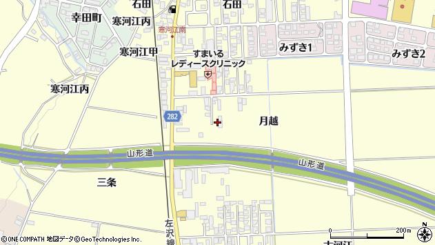 山形県寒河江市寒河江月越28周辺の地図