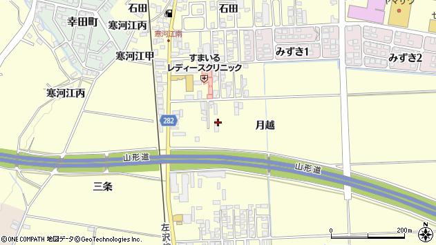 山形県寒河江市寒河江月越29周辺の地図