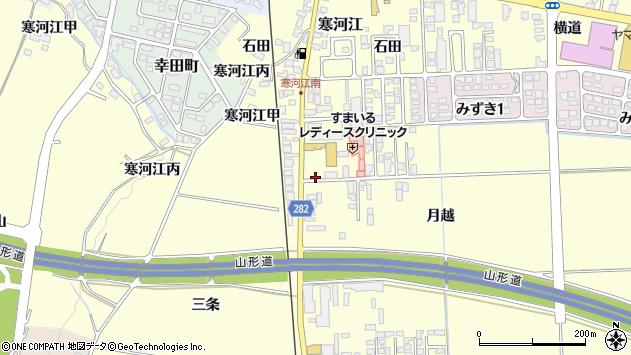 山形県寒河江市寒河江月越1周辺の地図