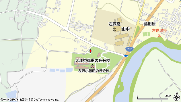 山形県西村山郡大江町藤田839周辺の地図