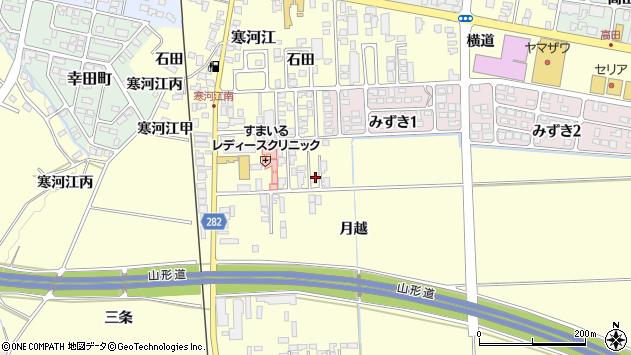 山形県寒河江市寒河江月越11周辺の地図