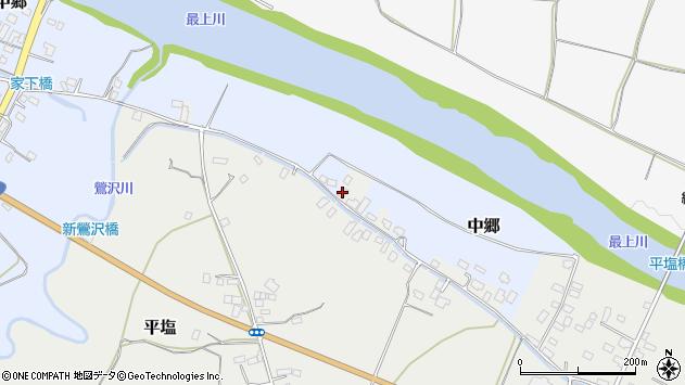 山形県寒河江市中郷沢向106周辺の地図