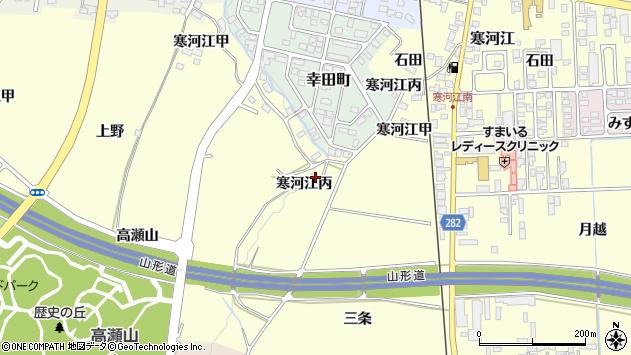 山形県寒河江市寒河江丙2289周辺の地図