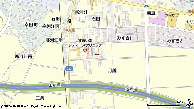 山形県寒河江市寒河江月越10周辺の地図