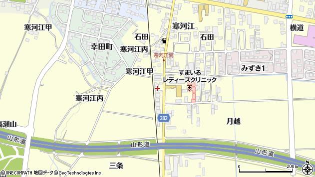 山形県寒河江市寒河江136周辺の地図