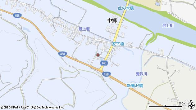 山形県寒河江市中郷437周辺の地図