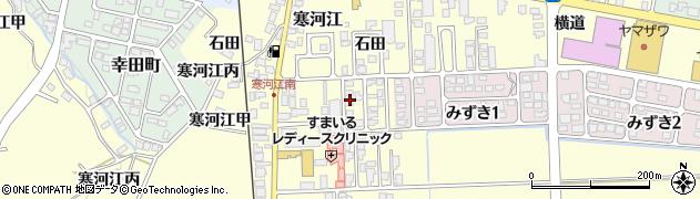 山形県寒河江市寒河江石田56周辺の地図
