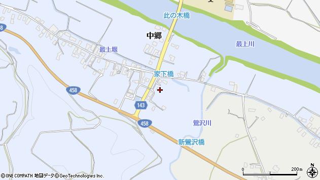 山形県寒河江市中郷425周辺の地図