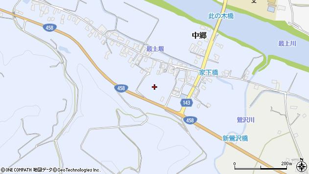 山形県寒河江市中郷上の代周辺の地図