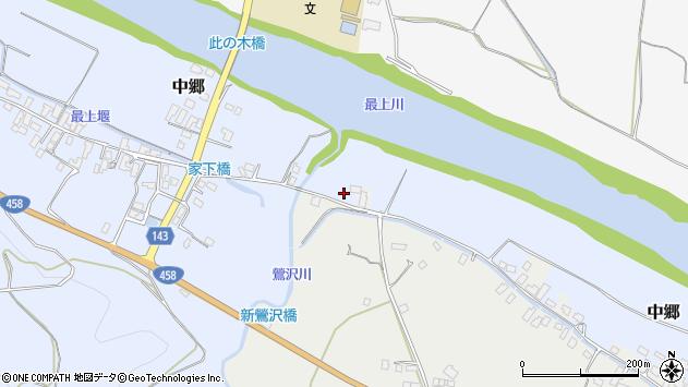 山形県寒河江市中郷沢向周辺の地図