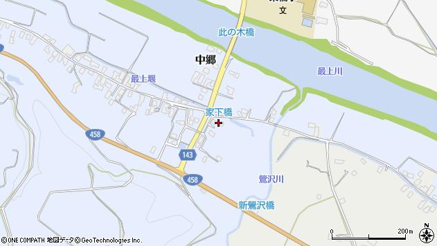 山形県寒河江市中郷424周辺の地図