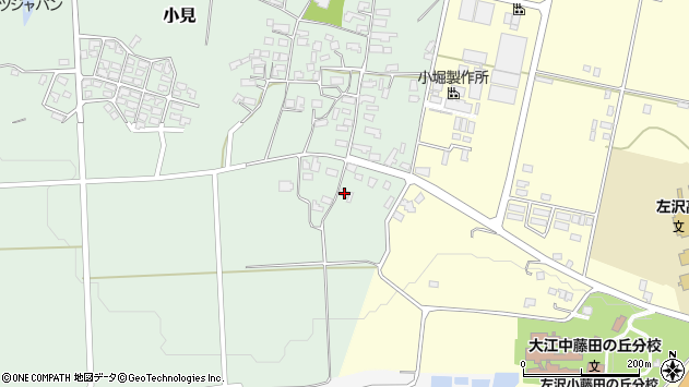 山形県西村山郡大江町小見191周辺の地図